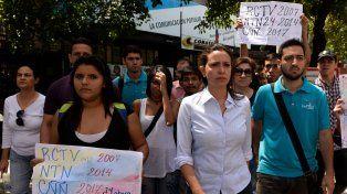 Protesta. Ayer los opositores recordaron los antecedentes: RCTV en 2007 y NTN en 2014.