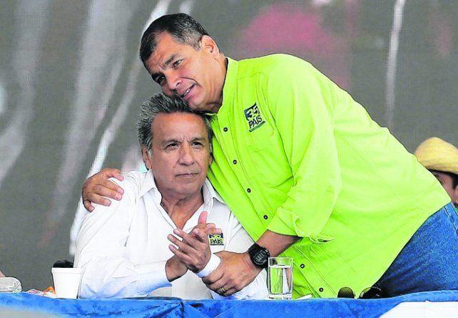 Apoyo. Correa se mostró poco con el candidato oficialista