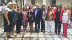 Esta mañana el gobernador y la ministra junto a autoridades y docentes de Normal Nº 2.