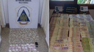 Imágenes de los allanamientos que permitieron desbaratar la banda narco en Villa Gesell.