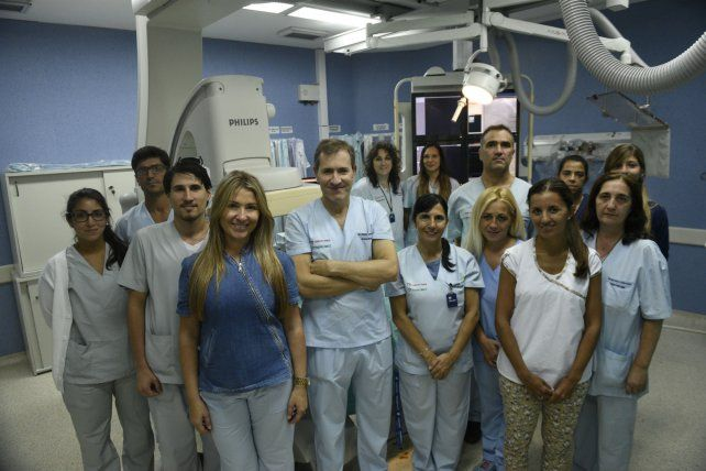 Esfuerzo conjunto. El equipo del área de Hemodinamia del Hospital Centenario.