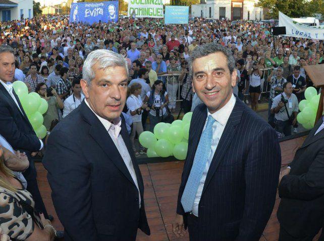 Compañeros. Domínguez y Randazzo comparten la misma visión crítica hacia el gobierno de Macri.