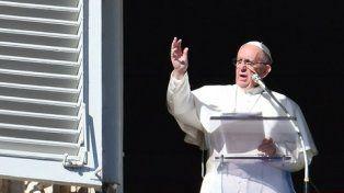 Respuesta. Francisco formuló su contraaque en el Angelus dominical.
