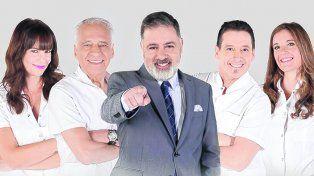 Staff de peso. El reality contará con la conducción de Doman más el equipo médico de Alberto Cormillot y padrinos famosos como Juana Repetto.