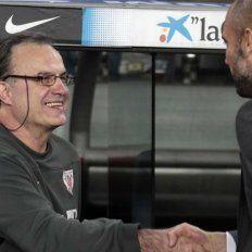 Bielsa y Guardiola se tienen una mutua admiración como directores técnicos.