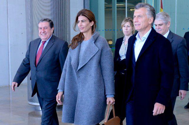 El presidente Mauricio Macri llegó a España junto a la primera dama