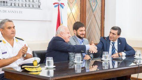 El gobernador Lifschitz puso en funciones a Daniel Corbellini ante el ministro Maximiliano Pullaro.