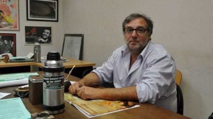 El secretario general de Amsafé Rosario, Gustavo Terés.