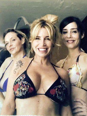Un spa caliente reunió en bikini a Flor Peña, Paola Krum, Gabriela Toscano y Jimena Barón