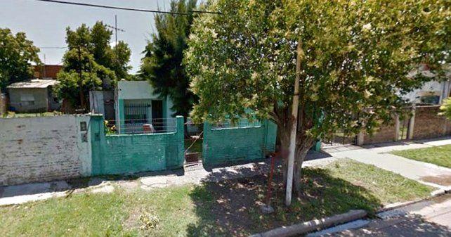 La vivienda donde fue encontrada la beba.