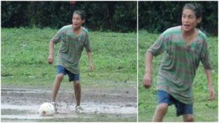 el recuerdo. Kevin tenía 16 años y era un enamorado del fútbol.