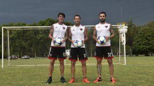 El tridente. Formica, Maxi Rodríguez y Scocco tuvieron sondeos, pero quieren conseguir la gloria.