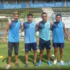Presentación. Las caras nuevas en barrio Sarmiento: Mateo Quintana, Diego Angaroni, Leandro Cabral y Gustavo Salgado.
