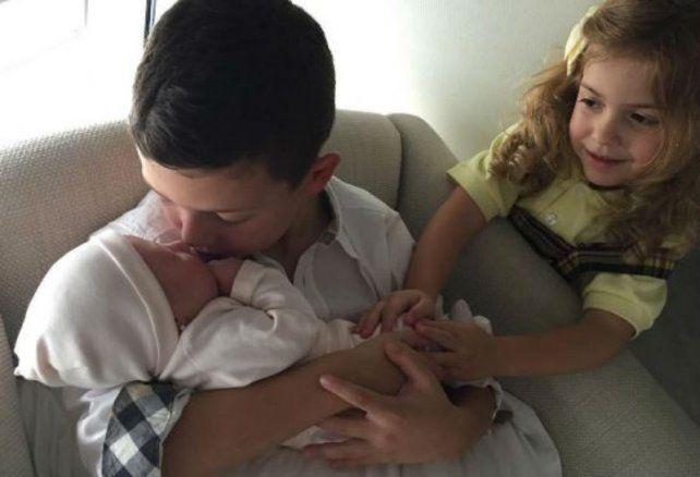 La primera foto de Emma, la hija recién nacida de Evangelina Anderson