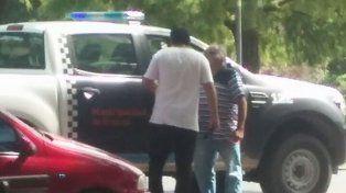 Trapitos peleando en el Parque Independencia.