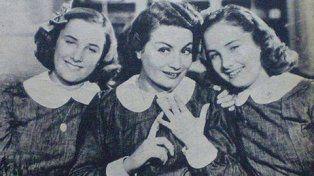 Inicios. Con Goldie y Nini Marshall en Hay que educar a Niní, en 1940.