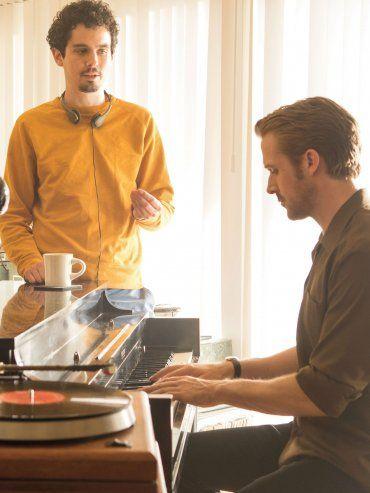 Damien Chazelle y Ryan Gosling, en pleno rodaje de la película que tiene todo para ser la gran ganadora de los Oscar.