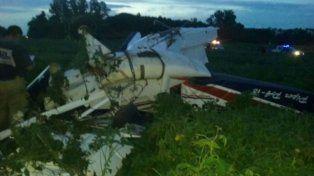 Frustrado. El piloto no pudo aterrizar y la máquina quedó destruida.