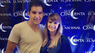 Granata junto a su actual pareja, el empresario Leonardo Squarzon.