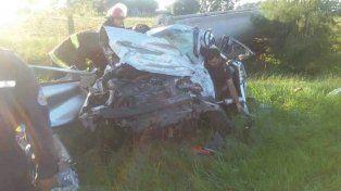 Murieron tres integrantes de una familia en un choque frontal sobre la ruta 11