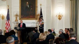 Rearme. El presidente afirmó que el presupuesto para el año fiscal estará enfocado en la seguridad de EEUU.
