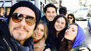 Marcelo Tinelli disfrutó de sus hijos en la siempre intrigante ciudad de Nueva York.