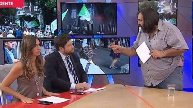Baradel se enojó con la pregunta de un periodista de TN y se retiró del estudio