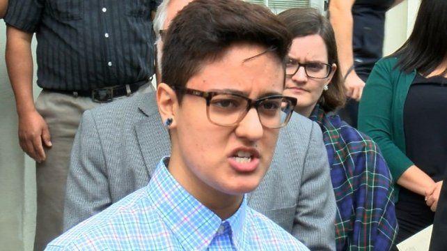 Excarcelada. La liberación de la joven no pone fin a la batalla jurídica.