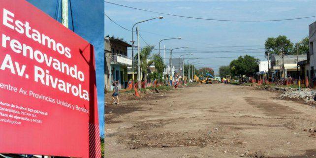 Distrito oeste. Se está renovando un tramo de avenida Rivarola.