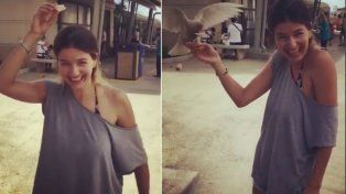 El curioso encuentro de Marcela Kloosterboer con las palomas