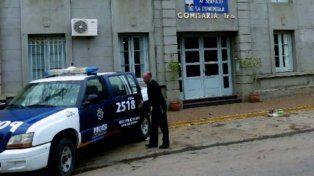 La sede del escándalo. La comisaría 1ª de la ciudad de Esperanza.
