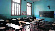 Aulas vacías. Se viene un período complicado para el dictado de clases.