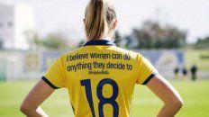 Las chicas de la selección sueca hicieron un homenaje muy especial por el Día Internacional de las Mujeres.