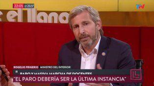 Frigerio vinculó la marcha de la CGT con el clima electoral y habló de actitudes mezquinas