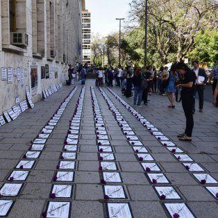 El acto realizado el 25 de noviembre en Tribunales para visibilizar los casos de violencia de género