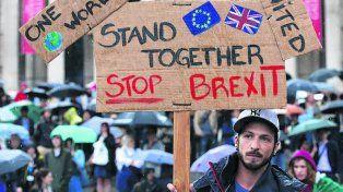 Rechazo. Protesta en Londres contra el proceso de separación.