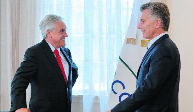 Macri junto al chileno Sebastián Piñera.