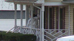 El frente de la casa donde ocurrió el sangriento episodio.