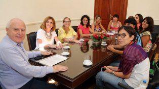 Lifschitz se reunió a principios de enero con la mesa de Mujeres por la Igualdad.