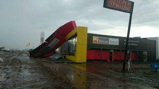 Los daños fueron importantes en el predio de ExpoAgro.
