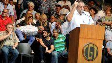 El gremialista Héctor Daer durante el acto de la CGT del pasado martes.