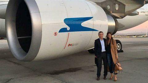 coincidencia. Mauricio Macri y su esposa