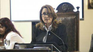 La intendenta Mónica Fein durante su discurso.