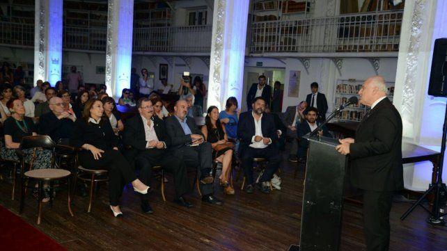 Lifschitz y Fein presentaron el proyecto de ampliación de la Biblioteca Argentina de Rosario
