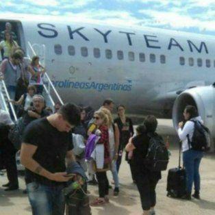 Tras el fallo del motor, el avión debió regresar a Córdoba.