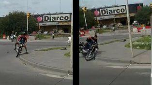 Quiso robar una moto pero el dueño lo corrió y lo bajó de un piedrazo en la cabeza