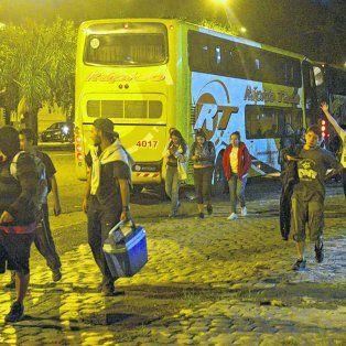 El regreso de los últimos colectivos a Rosario se estiró hasta después de las 22.