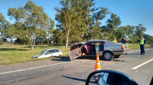 La imagen del trágico accidente de tránsito en la ruta 3.
