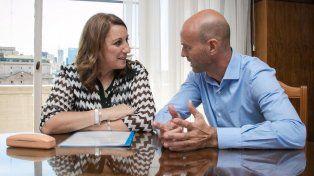 La intendenta Mónica Fein se reunió con el ministro de Transporte, Guillermo Dietrich.