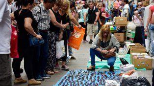 La peatonal, un mercado. Bajan sensiblemente las ventas en un momento en que es muy difícil, dijo Diab.